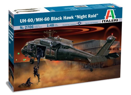 Italeri 510002706 modellino scala 1:48 uh-60a black hawk night raid
