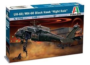 """Italeri 2705S UH 60A Black Hawk """"Night Raid"""" - Maqueta de helicóptero (escala 1:48) importado de Alemania"""