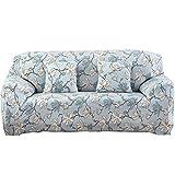 #6: Warmingecom Stretch Slipcover Big Elastic Printed Sofa Furniture Cover (2#)(3 Seats)