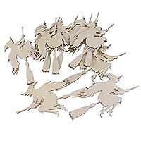 NUOLUX-10pcs-hlzernen-Verzierungen-Halloweendekoration-Geist-Muster-Anhnger-fliegen