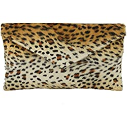 LONI - Cartera de mano para mujer leopardo de nieve Medium