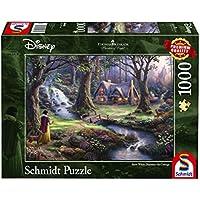 Schmidt Spiele Puzzle 59485Thomas Kinkade, Disney Bianco Come La Neve, 1000pezzi