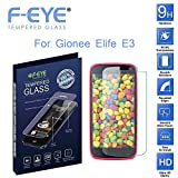 F-EYE® Gionee Elife E3 Tempered Glass - Ultra Clear Screen Protector - 0.33mm Thickness