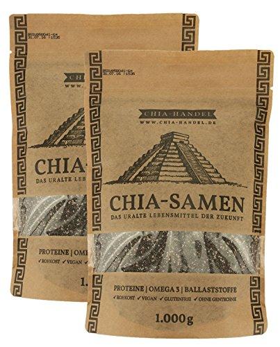 Chia Samen 2000g (2x1kg) – Hochwertige Qualität zum fairen Preis