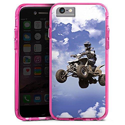 Apple iPhone 7 Plus Bumper Hülle Bumper Case Glitzer Hülle Quad Motocross Sport Bumper Case transparent pink