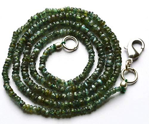 Lovekush beads gemstone 1 filo di gemme naturali di alessandrite crisoberile liscio rondelle collana lunga 43,2 cm finitura collana rara 2-3,5 mm codice rr-21942