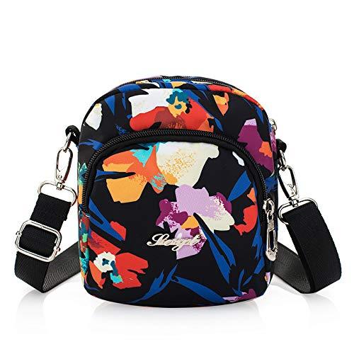 CHAOBAOBAO Frauen Wasserdichte Oxford Tuch Umhängetasche Sport Casual Messenger Mini Tasche Mode Geldbörse, D
