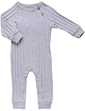 Fixuk Angel Wing manica lunga pigiama ragazza bella tuta da uomo size 12M (Gris)