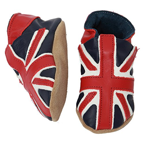 Starchild , Baby Jungen Lauflernschuhe Navy shoe with a Union Jack design Extra Large 18-24 Months UK 6 EU 23 -