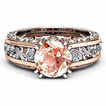 Sonnena Rings Jewelry Fashion Women Color Separation Rose Gold Wedding Engagement Floral Ring
