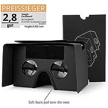 Google Cardboard 3D VR lunettes Splaks Grande LentilleRéglable VR Casque pour 3D film et Jeux Vidéo avec Bande de Tête, Aimants Compatible avec 4.3-5.3 Pouces Ecran Smartphone