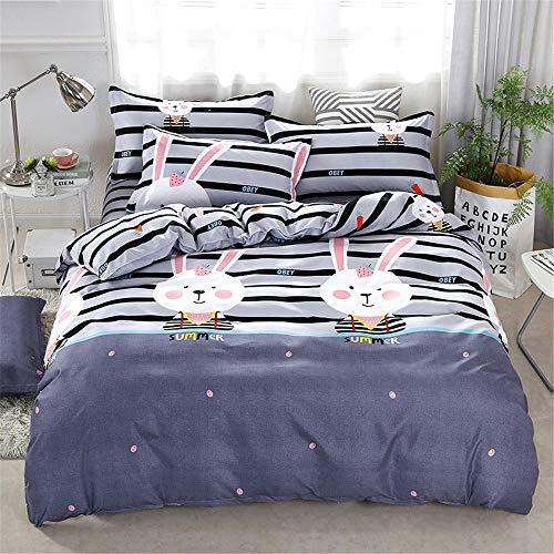 YUNSW Baumwolle Bettbezug Gedruckt Farbige Blumen Bettbezug Für Bett Twin Voll König Königin Größe Kurze Stil Bettwäsche E 220x240 cm / 87x94in