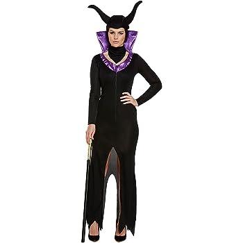 Costume Fancy Dress Evil Queen (Nero Viola) - Taglia Unica  Amazon ... 82c4496e54c6