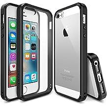 Ringke FUSION-Funda iPhone SE,  absorción de choque de parachoques de TPU Protección gota, funda duro claro para Apple iPhone SE 2016 / 5S 2013 / 5 2012 - Negro