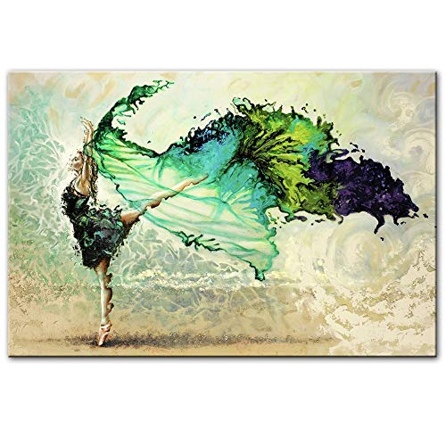 Leinwanddrucke,Hd-Drucken Poster Gedruckt Auf Leinwand,Ballett Tänzerin Mädchen Abstract Wand Kunst Leinwand Gemälde Malerei Nordic Modern Pop Art Für Wohnzimmer Home Decor,70X100Cm Ohne Rahmen - Wand-poster-frames