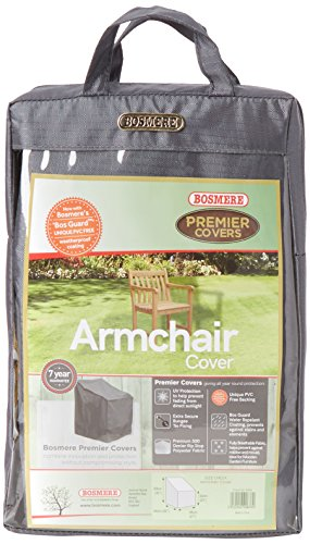 Bosmere NP040 Single Seat Wooden Armchair Cover - Grey