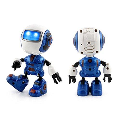 Roboter für Kinder, AmaMary 2017 smart sensing Touch Kopf Induktion Joint Rotation Beleuchtung sound Mini Legierung Roboter Kinder Spielzeug Geschenk (Blau)