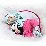 Nicery Reborn Baby Doll Puppe Weich Simulation Silikon Vinyl 22 Zoll 55 cm magnetisch Mund lebensechte Boy Girl Junge Mädchen Spielzeug RD55C180