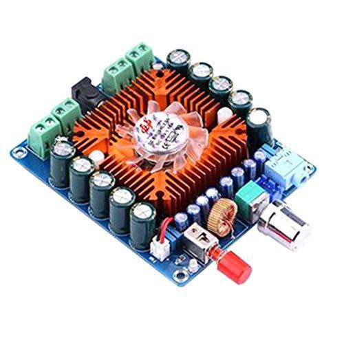 KESOTO HiFi Digitalverstärker Verstärkerplatine Audio Endstufe Board Modul + Lüfter für Auto PC Lautsprecher, 50W x 4Kanäle, DC 12-16V, Leise