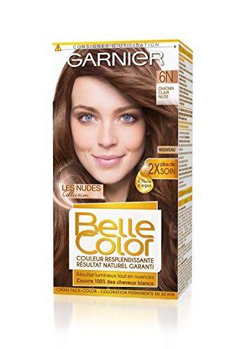 Garnier - Belle Color - Coloration 6N Châtain Clair Nude - Lot de 2