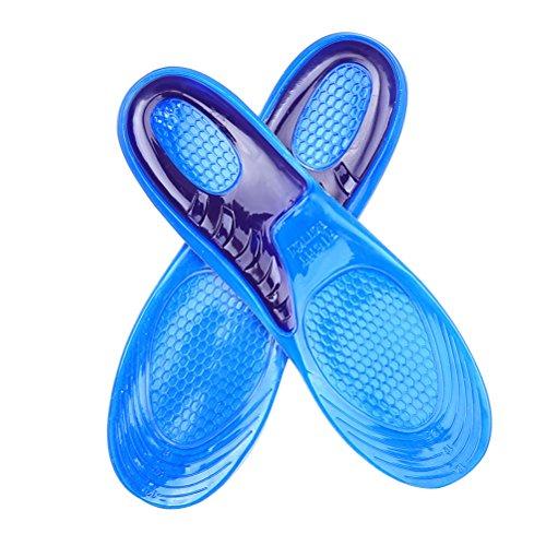 SUPVOX Weiche Silikon-Einlegesohlen Shoe Pads für Walking Wandern Laufen Sport Shock Absorbent Schuhpolster Massage Silicon Gel Einlegesohlen -
