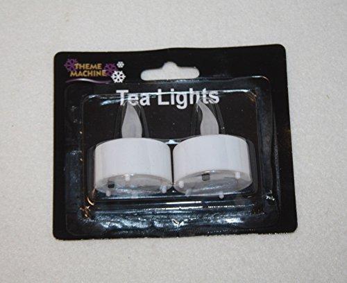 blanco 2 LED vela velas pequeñas navidad arreglos florales decoración