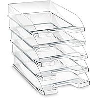 CEP 100 F - Pack de 10 bandejas portadocumentos, color transparente