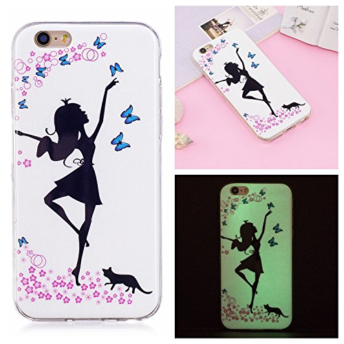 Custodia iPhone 6 Plus / iPhone 6s Plus Cover Silicone , YIGA Unicorno Blu  Moda Nottilucenti