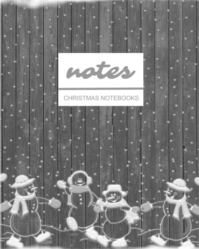 Notes Christmas Notebooks: Grayscale Rustic Snowman  / Journal / Diary / Gift Idea / Ruled Notebook - Stationery / (Holiday Designs) (8
