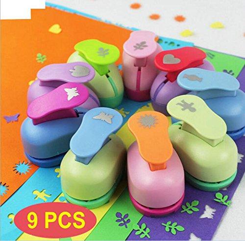 9PCS Mini Papier Stempel Sets Weihnachtsbaum Schneeflocke und Kreis Craft Locher Form DIY Scrapbook Papier Karten Art Cutter Tool - Halten Herz Punch