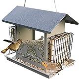 Feeder OLDJTK Appeso Alimentatore di Uccelli Selvatici per Il Giardino, Alimentatore di Semi di Alimentazione Uccello E Alimentatore di Dado