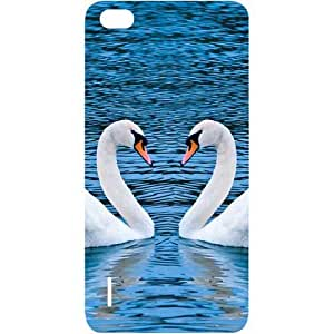 Casotec Pure Swan Design Hard Back Case Cover for Huawei Honor 6