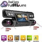 PolarLander WiFi Voiture DVR Vidéo Véhicule Dash Caméra Enregistreur Novatek 96660 Dashcam Double Objectif Full HD 1080 P 170 Degrés Boîte Noire Tableau de Bord avec GPS Logger