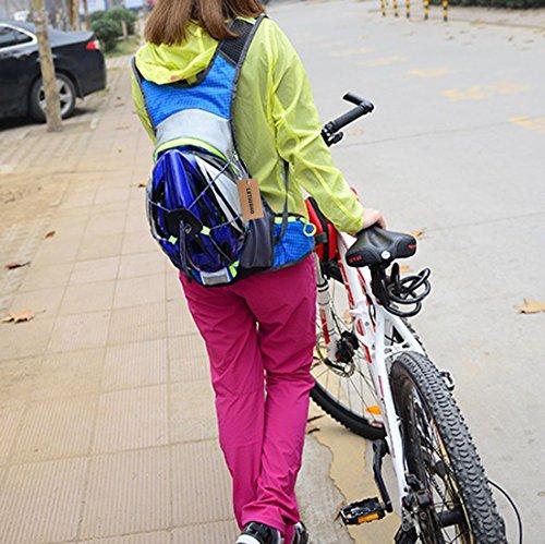 lethigho Wasserdicht Packsack 15L Outdoor Tasche Radfahren Hydration Backpack Ultralight Fahrrad Bike Reiten Rucksack Laufen Klettern Wandern Wasser Blase Reisen Tagesrucksack Orange - orange