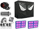 Nito GmbH Growbox Komplettset 240 x 120 cm mit 2 mal 3000 W LED und Premium Aktivkohlefilter (240x120 2 * 3000 Watt)
