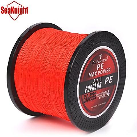 MaMaison007 500 M SeaKnight marca Tri-Poseidon serie Giappone multifilamento PE intrecciato linea di pesca-rosso-5.0