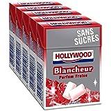 Hollywood blancheur fraise sans sucres 5 étui de 10 dragées 70g Envoi Rapide Et Soignée ( Prix Par Unité )