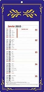 OBERTHUR - 1 Plaque SKYTOS Calendrier Mensuel Long Classique - Année 2016 - 16x33,3cm - 3 coloris disponibles