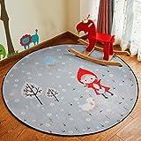 Mats rund Teppich Cartoon Kinder Decke Wohnzimmer Schlafzimmer Room Nachttisch Nachttisch Couchtisch Korb Computer Stuhl Mats, Diameter 120cm