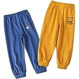 XM-Amigo Pantalones de algodón puro para niños y niñas, pantalones de primavera y otoño, pantalones casuales, pantalones de c