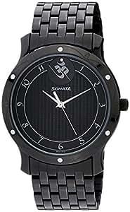 Sonata Sitara Analog Black Dial Men's Watch - 7107NM01