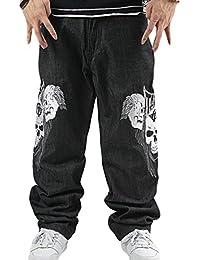 Dexinx Uomo Ragazzi Exquisite Skull Stampa Ballando Jeans Primavera Baggy Hip  Hop Denim Pantaloni 42e665e436c7
