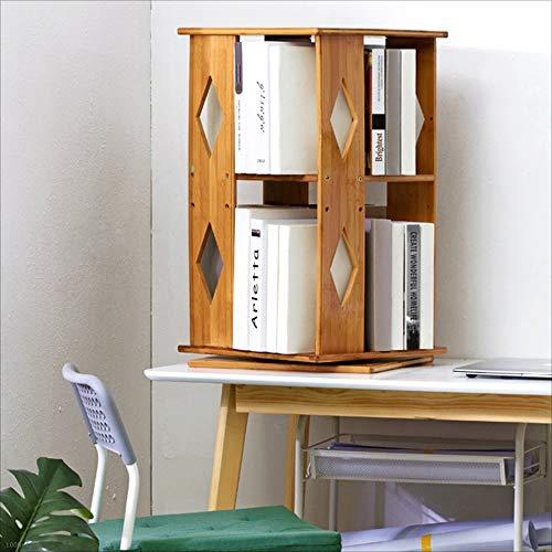 Bücherregale HUO 360 Grad, das einfaches mehrschichtiges Bodenregal dreht (Farbe : Diamond) (Verstellbares Bücherregal)
