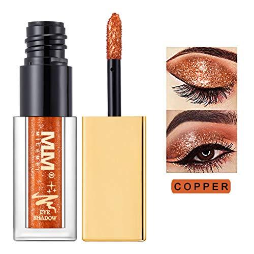 Cwemimifa Makeup Paletten Organizer,Metallic Shiny Smoky Eyes Eyeshadow Wasserdichter Glitter Liquid Eyeliner,E - Smoky Eyes Augen-make-up