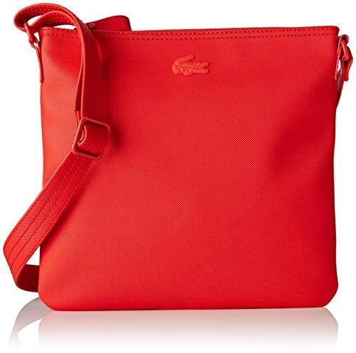 Lacoste NF2046WM, Borsa a Tracolla Donna, 25 x 2.5 x 26 cm RED ALTO RISCHIO (High Risk Red)