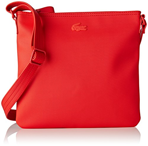 Lacoste NF2046WM, Sac Bandouliere Femmes, 25 x 2.5 x 26 cm HIGH RISK RED
