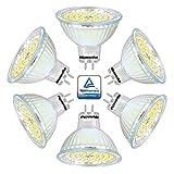Wenscha 6er MR16 GU5,3 5W LED Lampe Strahler, Neutralweiß 4000K Tageslicht, AC DC 12V, 400 Lumen, LED Spot, Ersetzt 40W Glühlampe 120° Abstrahwinkel, Flimmerfrei, nicht dimmbar