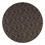 havatex Schlingen Teppich Torro rund - Farbe wählbar | Geprüfte Qualität: die Teppiche sind schadstoffgeprüft robust und pflegeleicht | für Wohnzimmer Schlafzimmer, Farbe:Braun, Größe:150 cm rund