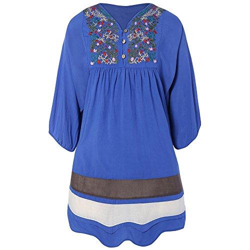 ZAFUL - Robe - Trapèze - Femme bleu jean