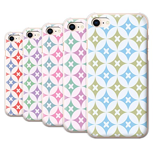Stuff4 Hülle / Case für Apple iPhone 8 / Blau/Braun Muster / Kaleidoskop Kollektion Multipack